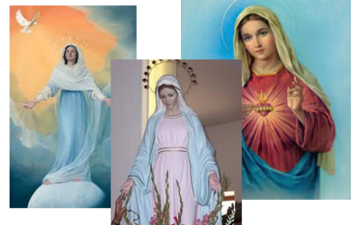 Why is Mary Pictured with a Blue Mantle?