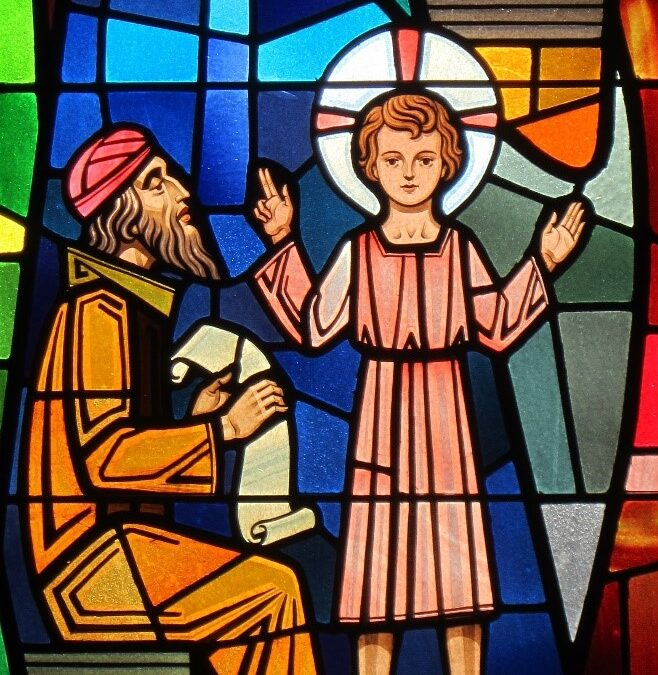 The Windows of our Church – The Boy Jesus in the Temple